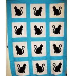cat applique design embroidery