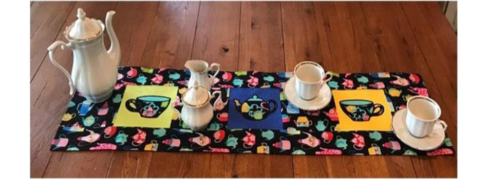 Tea Table Runner Stippling
