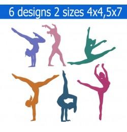 gymnastics embroidery