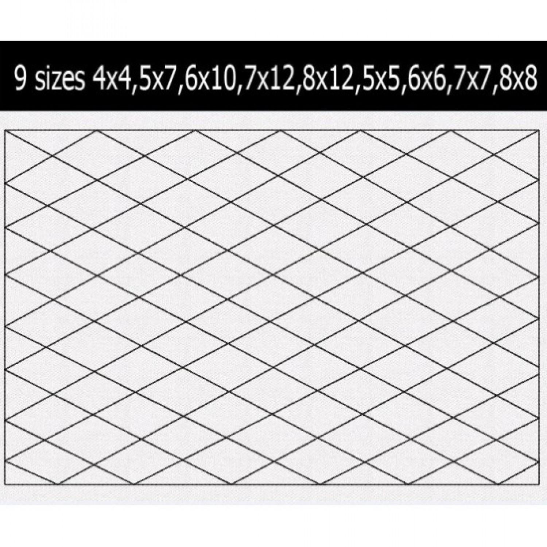 diamond pattern quilt 9 Sizes