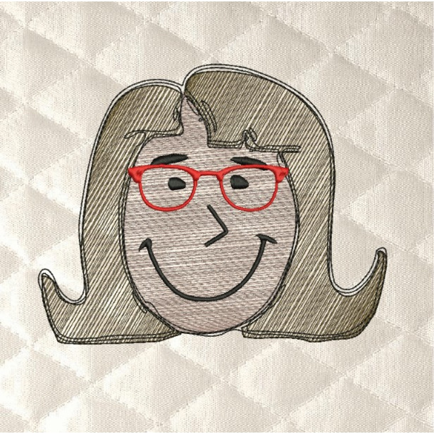 tina with glasses