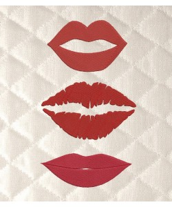 lips embroidery