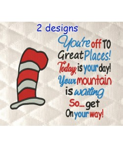 Hat Dr Seuss with You're off to Great Places