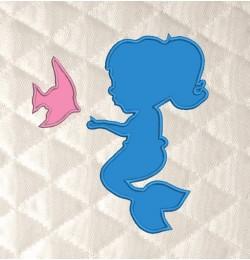 baby mermaid applique