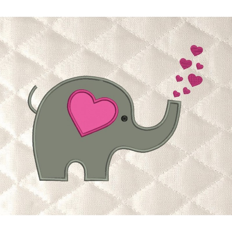 Elephant Hearts applique