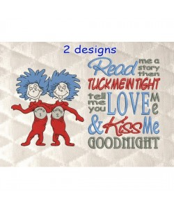 Thing 1 Thing 2 with read me a story designs