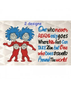 Thing 1 Thing 2 with One who never reads