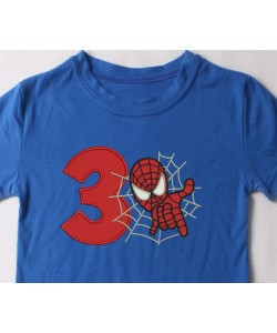 spiderman with number 3
