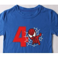 spiderman with number 4