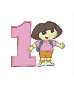 dora with number 1
