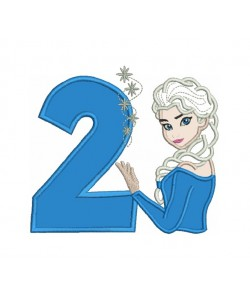 Elsa Frozen with number 2