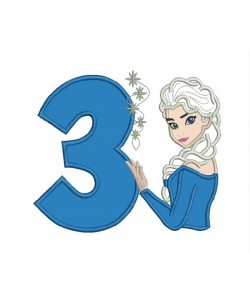 Elsa Frozen with number 3