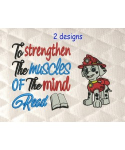 Marshal dog with To strengthen