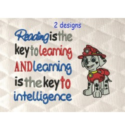Marshal dog with reading is the key