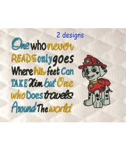 Marshal dog with One who never reads