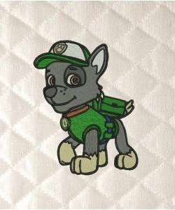 rocky paw patrol embroidery