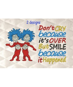 Thing 1 Thing 2 with Don't cry