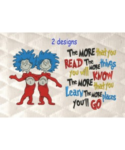 Thing 1 Thing 2 with the more that you read