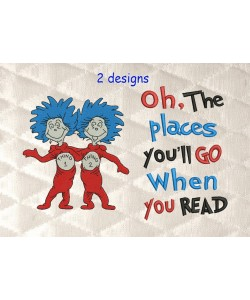 Thing 1 Thing 2 with oh the places