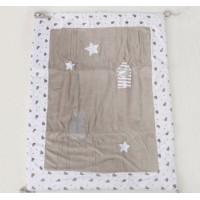 Rabbit star baby quilt