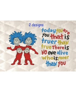 Thing 1 Thing 2 with today you are you