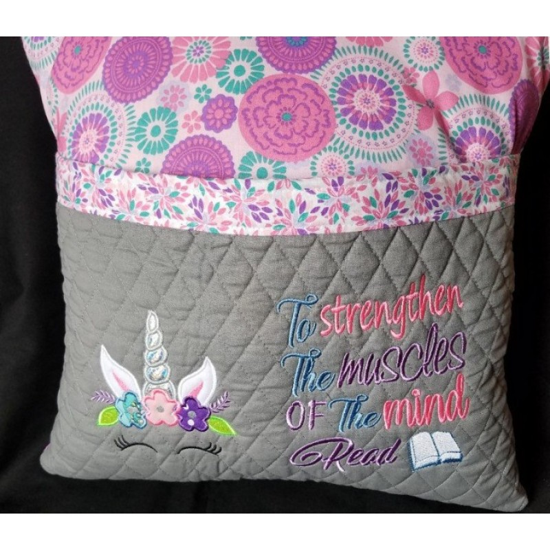 Unicorn Face applique with To strengthen 2 designs 3 sizes