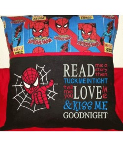 spiderman applique with read me a story