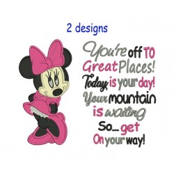 Minnie mouse with You're off to Great Places