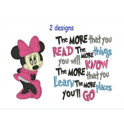 Minnie mouse with the more that you read