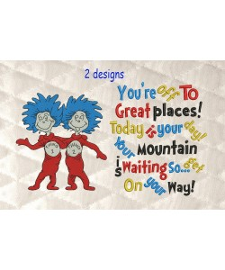 Thing 1 Thing 2 with Youre Off to Great Places
