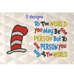 Hat Dr Seuss with to the world