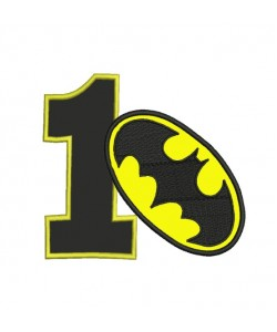 Batman logo with number 1