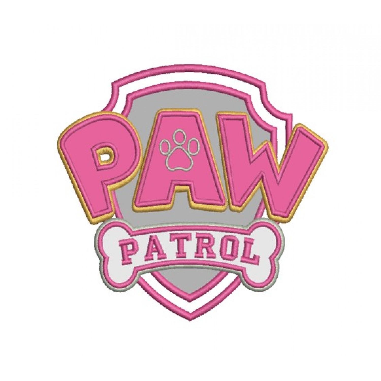 logo paw patrol applique