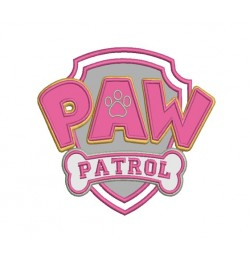 logo paw patrol applique