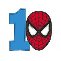 spiderman face with number 1