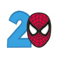 spiderman face with number 2