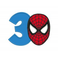 spiderman face with number 3