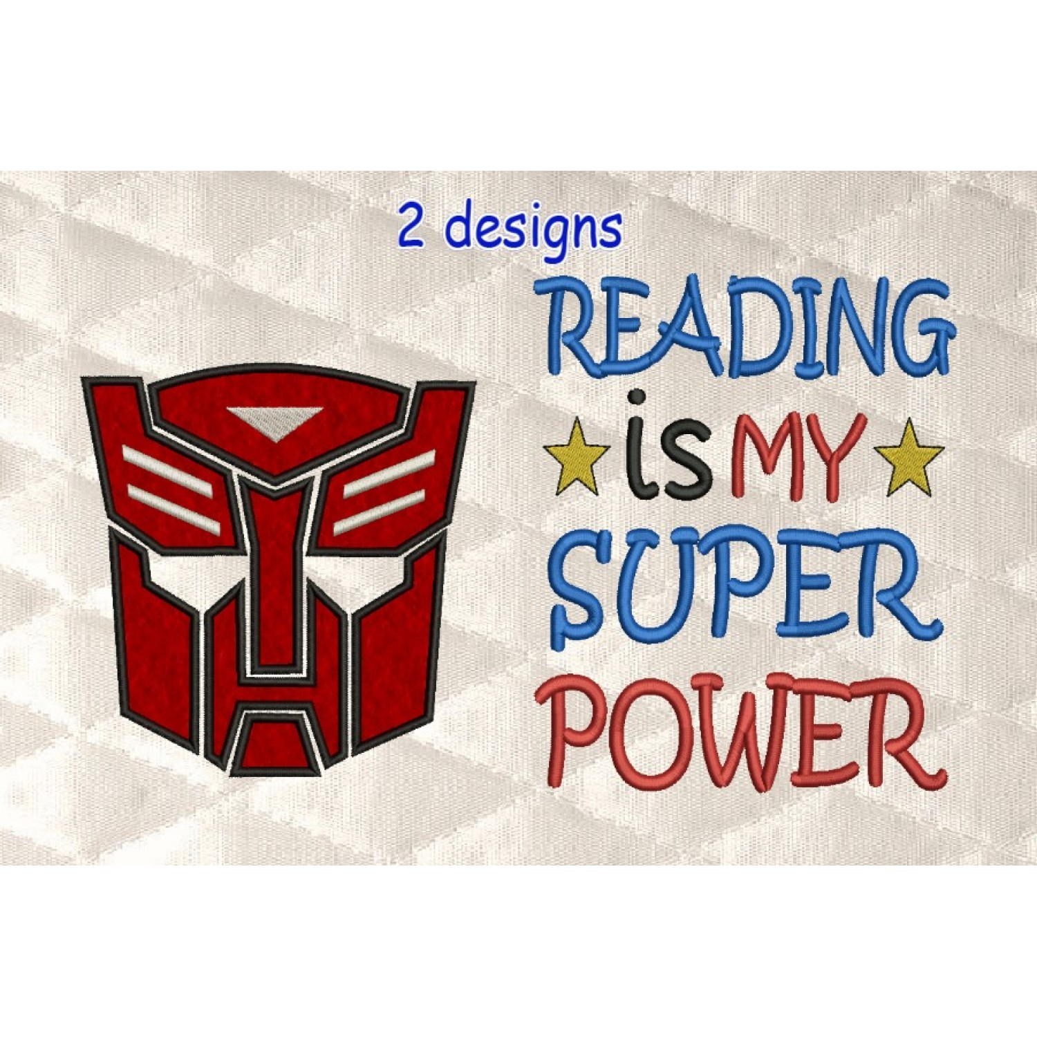 Autobots face with Reading is My Super power