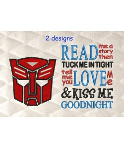 Autobots face with read me a story