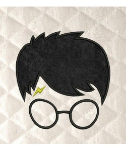 Harry potter face applique