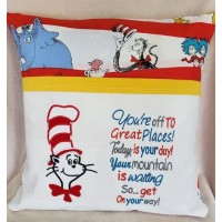 Dr. Seuss applique with Youre Off To Great Places