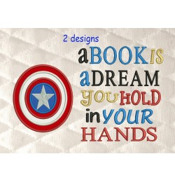 captain america with a book is a dream