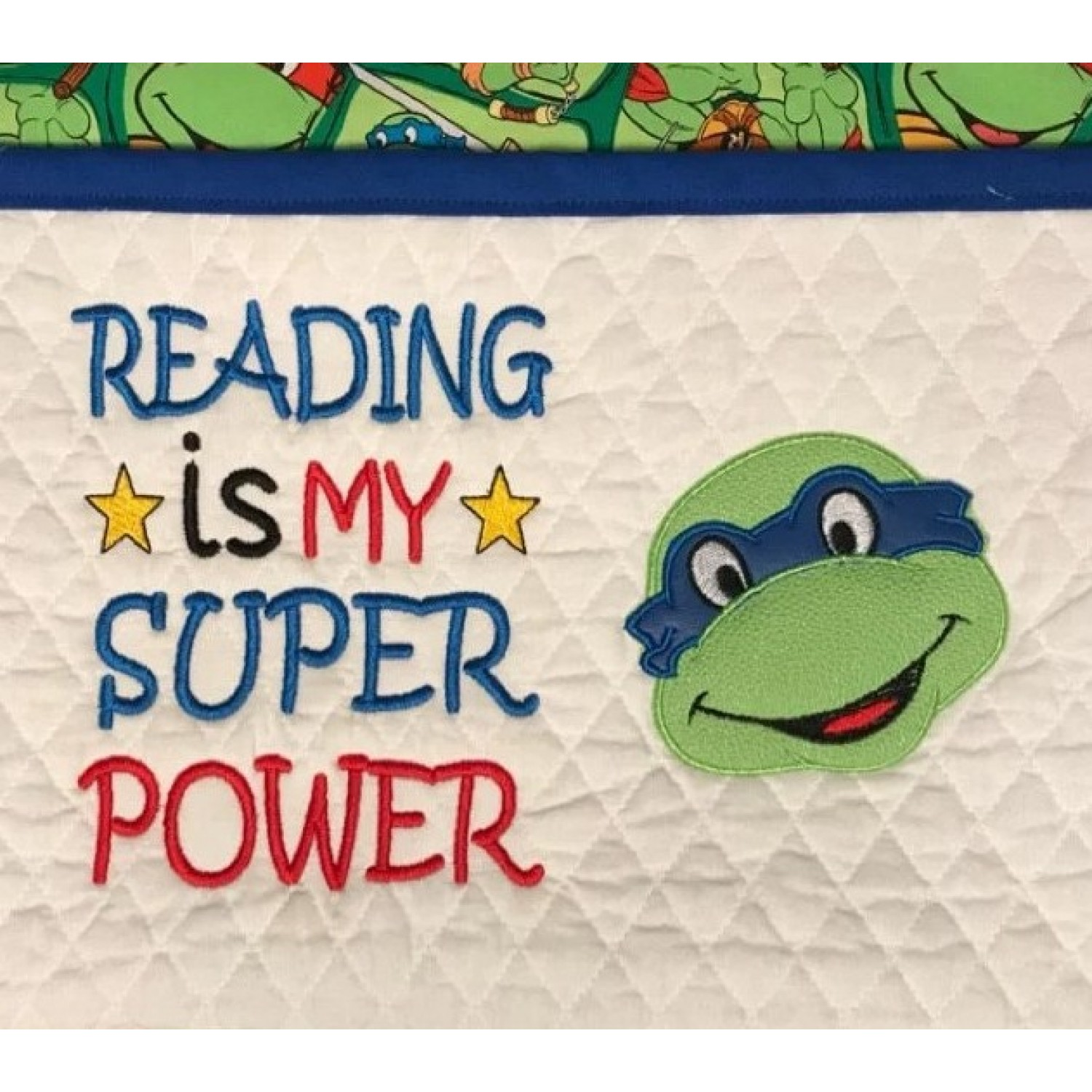 ninja turtle face Reading is My Super power