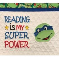 ninja turtle face Reading is My Super power