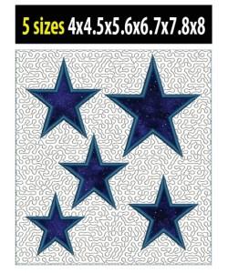 stars stippling applique in the hoop