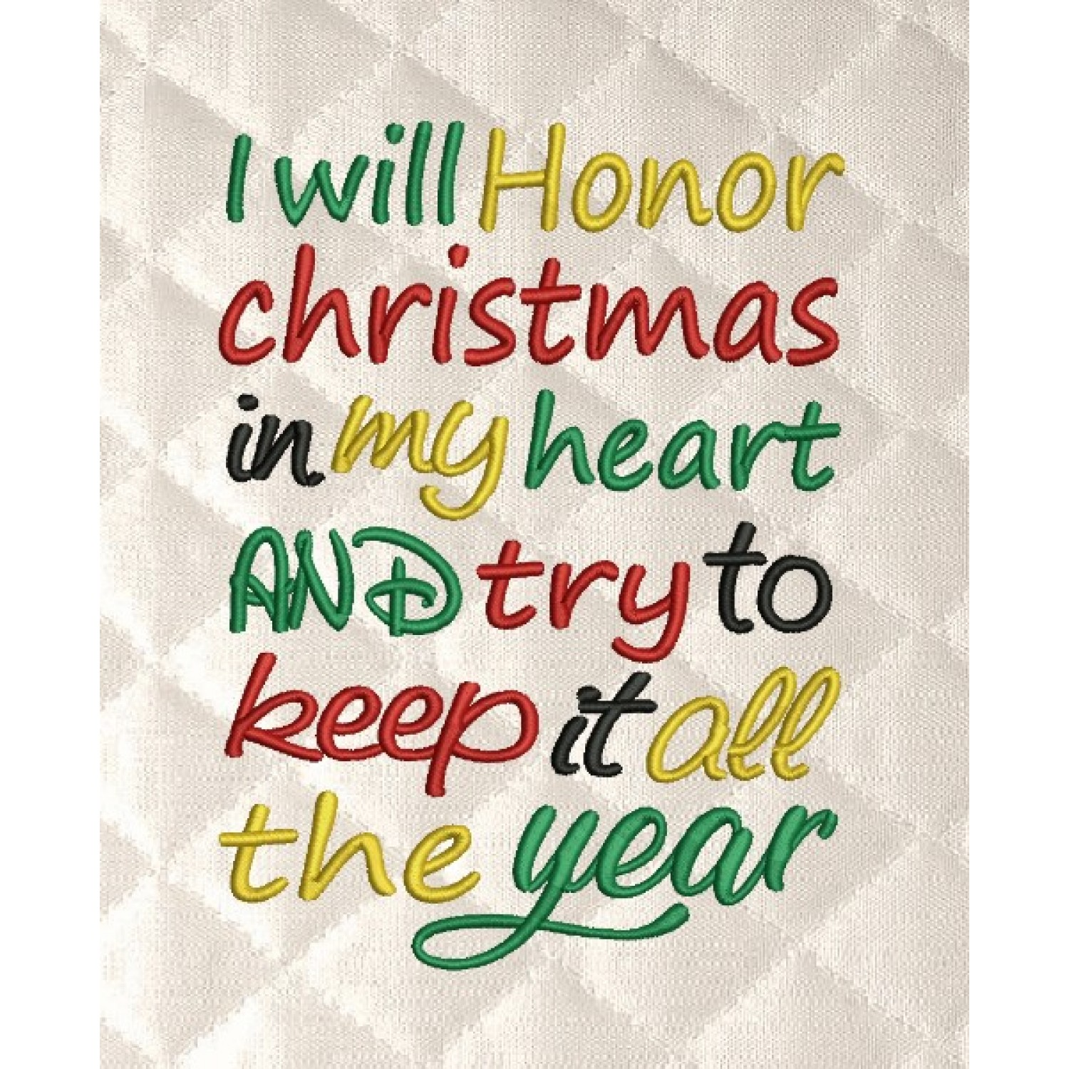 i will honor Christmas