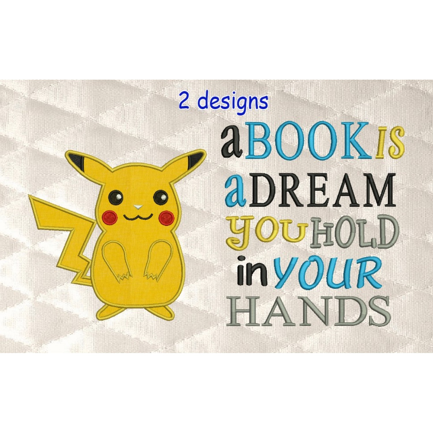 Pokemon Pikachu with a book is a dream