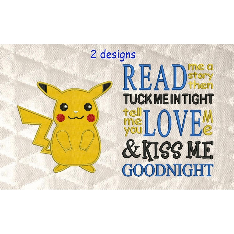 Pokemon Pikachu with read me a story
