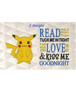 Pokemon Pikachu with read me a story