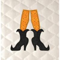 witch shoes applique